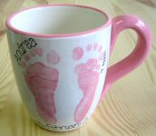 Baby Footprints on a Mug