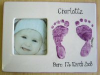 Baby Footprint on a Frame